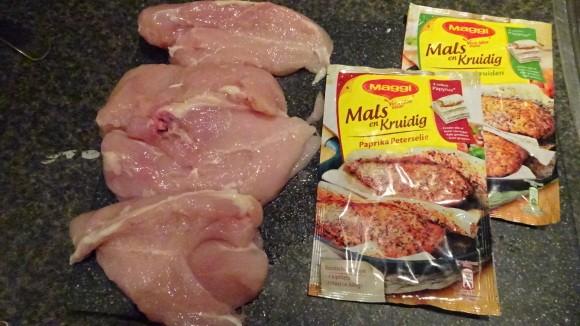 Kippenfilet, Maggi Mals en Sappig
