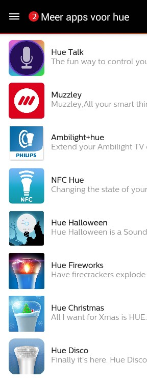 Philips HUe App list