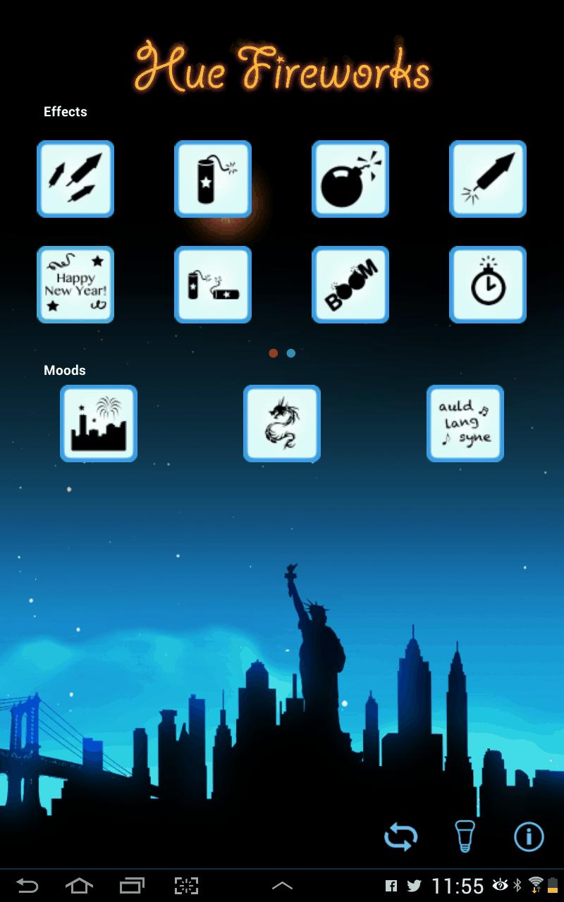 Philips Hue Fireworks App
