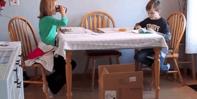 Video van de week suprise voor de twee kinderen