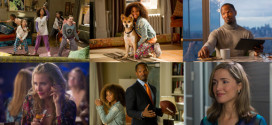 Annie (QUVENZHANE WALLIS) and Sandy in Columbia Pictures' ANNIE.