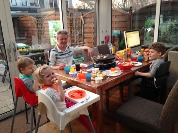 gezin gourmetten