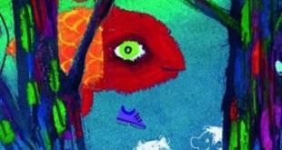 De zoute goudvis uitgelicht beeld