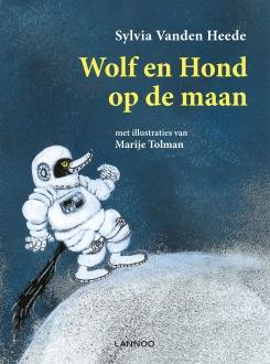 cover wolf en hond op de maan