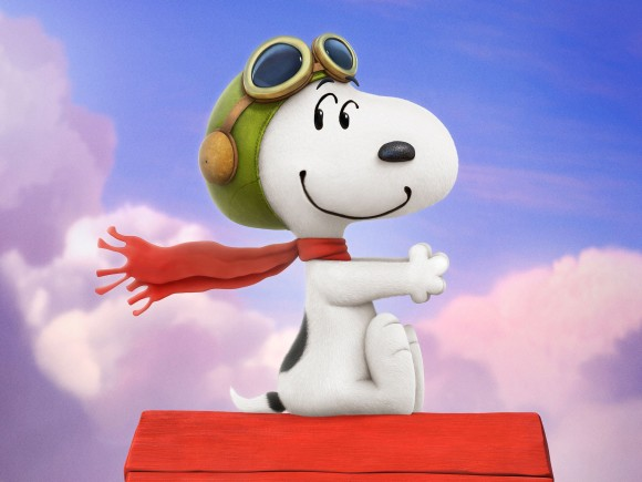 Snoopy en Charlie Brown de peanuts film 2