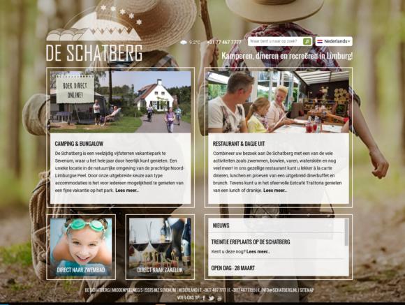 Website vakantiepark De Schatberg Sevenum
