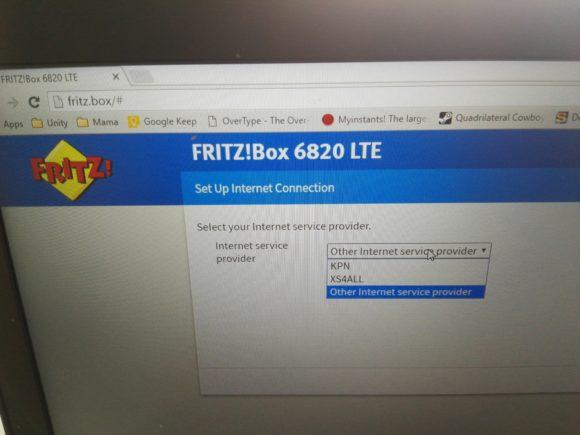 Fritz!box 6820 keuze netwerk provider