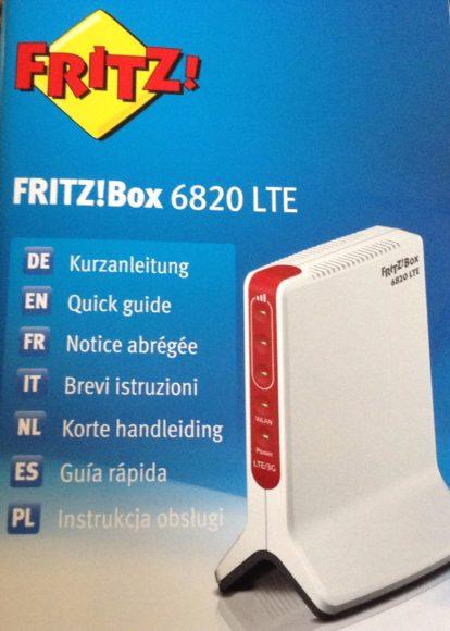 Fritz!box 6820 verpakking
