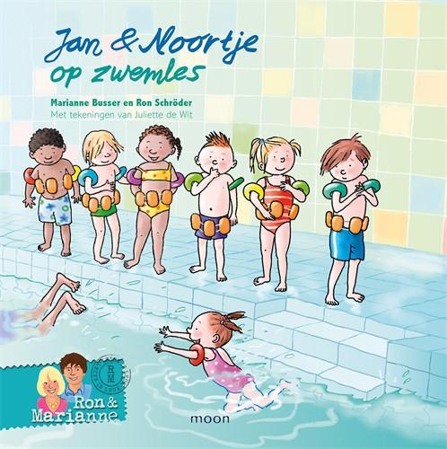 jan en noortje op zwemles voorkant