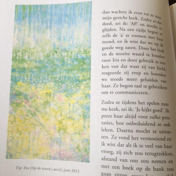 Iris Grace - combi schilderij en tekst