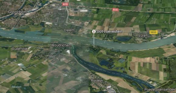Google Maps kasteel Loevestijn