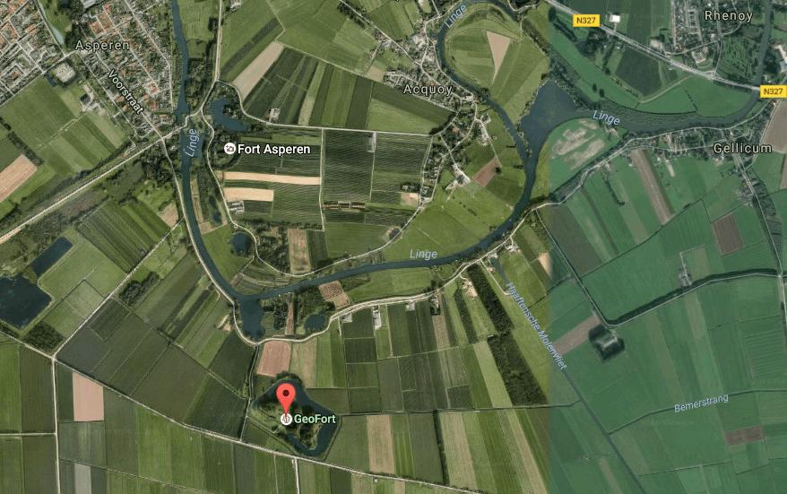 Google Maps satelliet Geofort Herwijenen