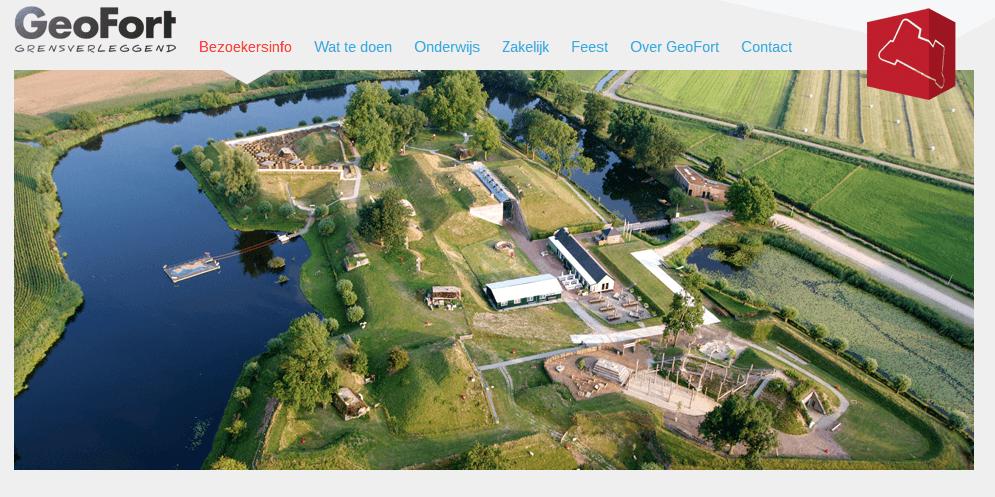 website Geofort bezoekersinformatie