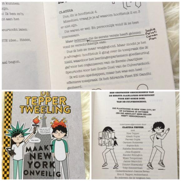 Tepper tweeling New York - cover en tekst