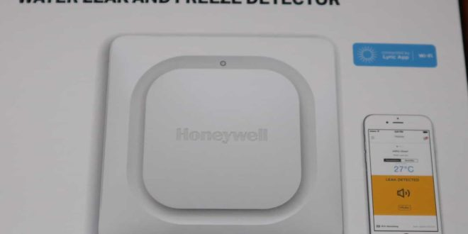 2017nov11 Honeywell Lyric water en vorst detector doos