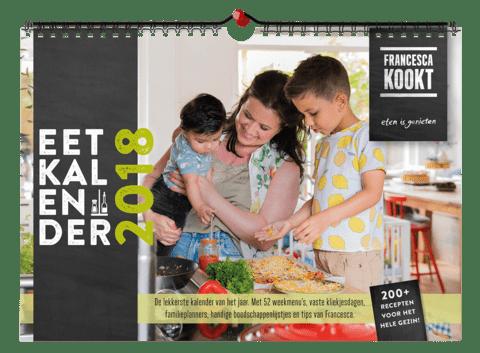 Eetkalender 2018: gezinskalender, recepten van Francesca en meer [recensie]