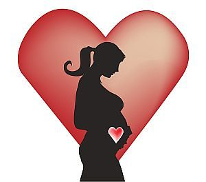 Zwangerschaps buik zwanger hart