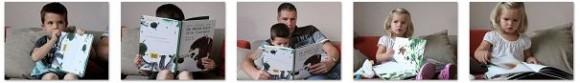 kinderen en papa lezen