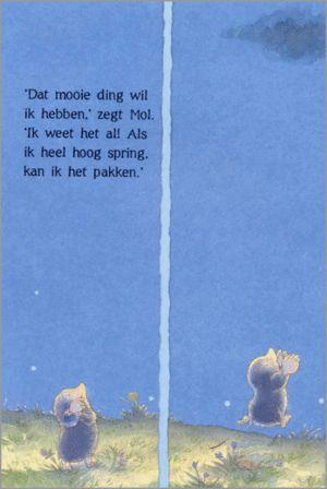 pagina vanuit prentenboek ik wil de maan