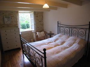 slaapkamer bij La Mayne de Boulede