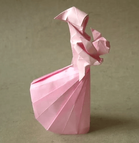 origami moeder met kind, video