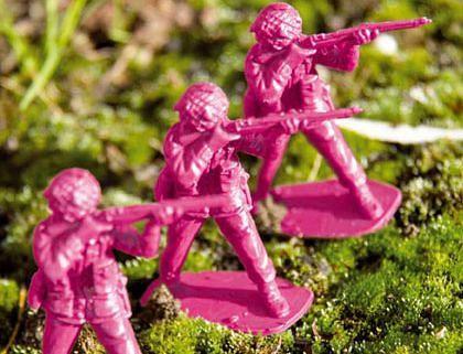 roze legermannetjes speelgoed
